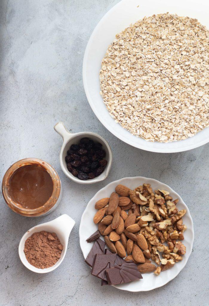 No-Bake Chocolate Granola Ingredients